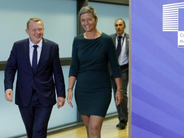 Lars Lokke Rasmussen i Margrethe Vestager
