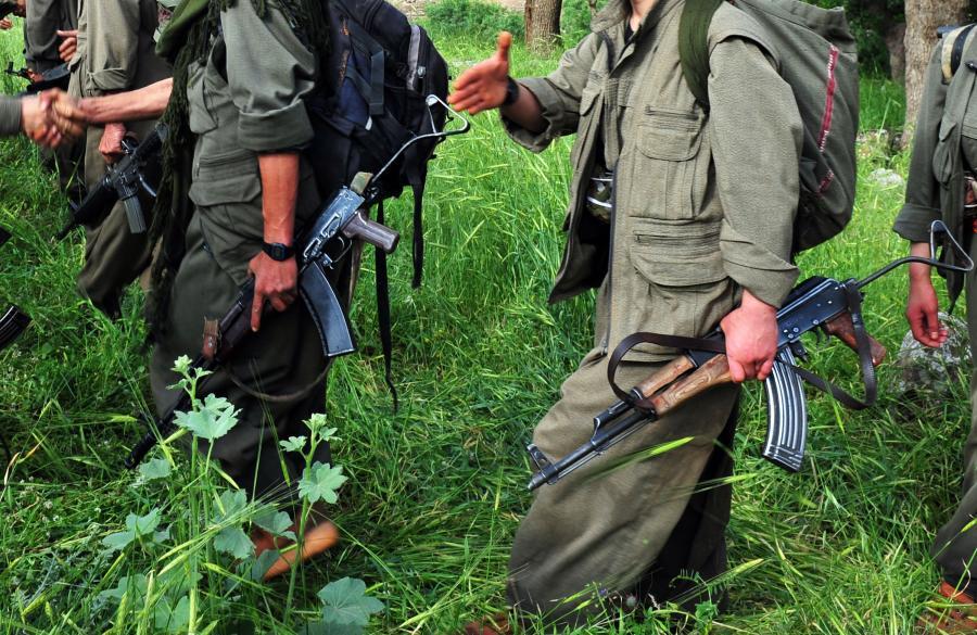 Kurdyjscy uzbrojeni bojówkarze, członkowie lokalnej milicji