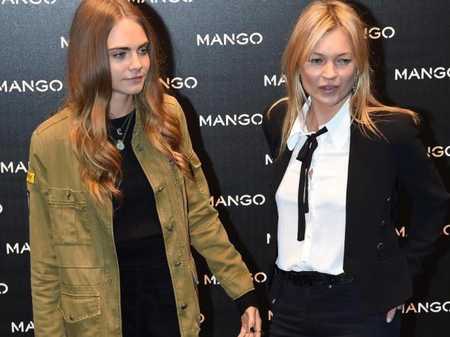 Cara Delevingne i Kate Moss