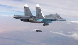 Rosyjski samolot bombarduje Syrię