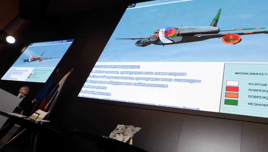 Rosjanie prezentują wyniki eksperymentu ws. MH17