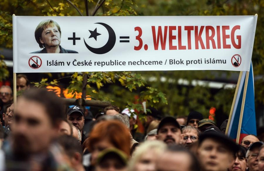 Antyislamska demonstracja w Czechach