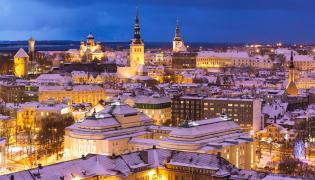 Tallin zimą