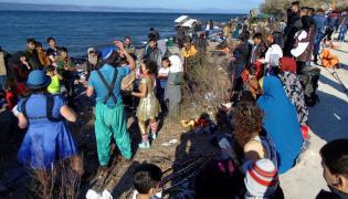 Imigranci na Lesbos