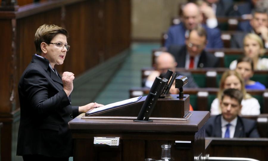 Beata Szydło wygłasza expose w Sejmie