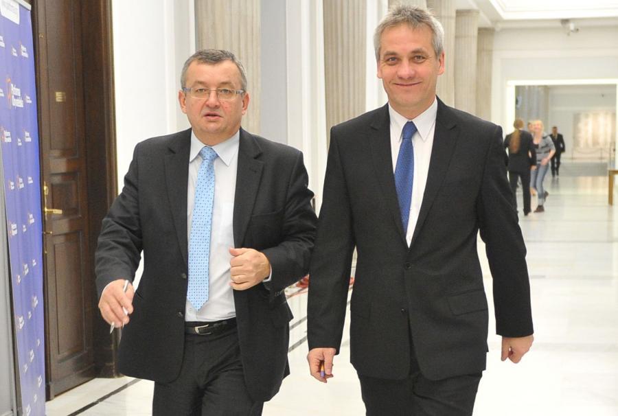 Andrzej Adamczyk, nowy minister infrastruktury oraz Jerzy Szmit z PiS