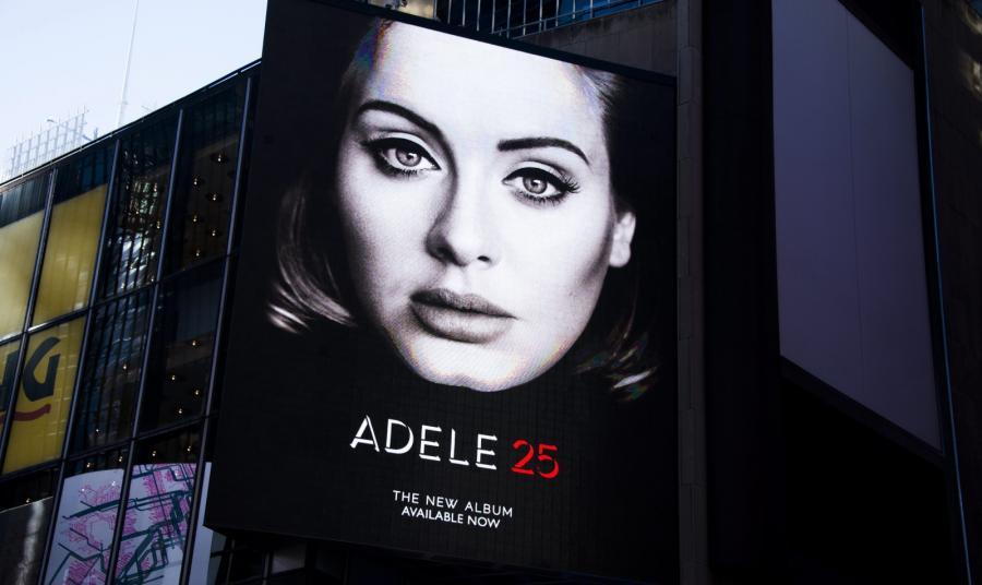 Adele rekordowa w USA, w Anglii jeszcze nie
