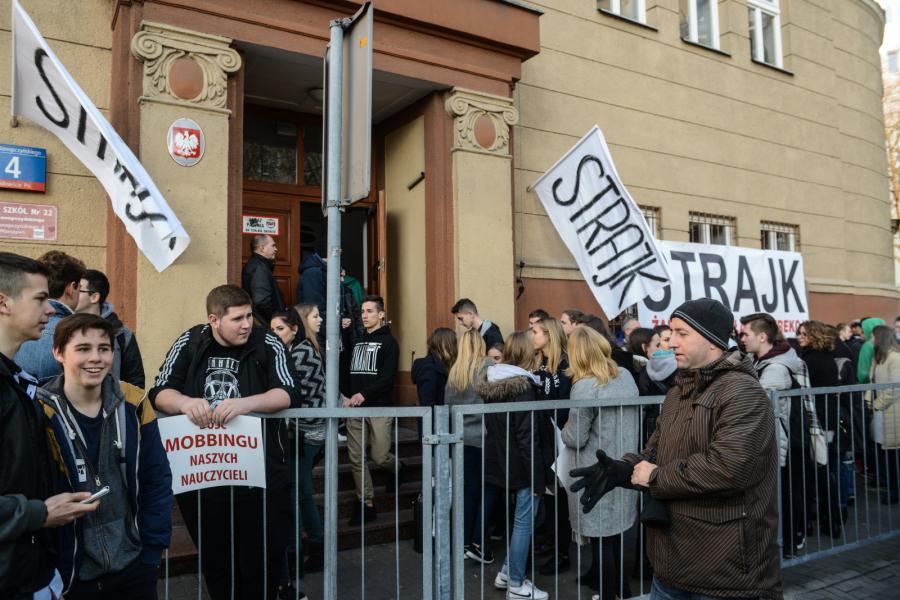 Strajk w szkole w Warszawie