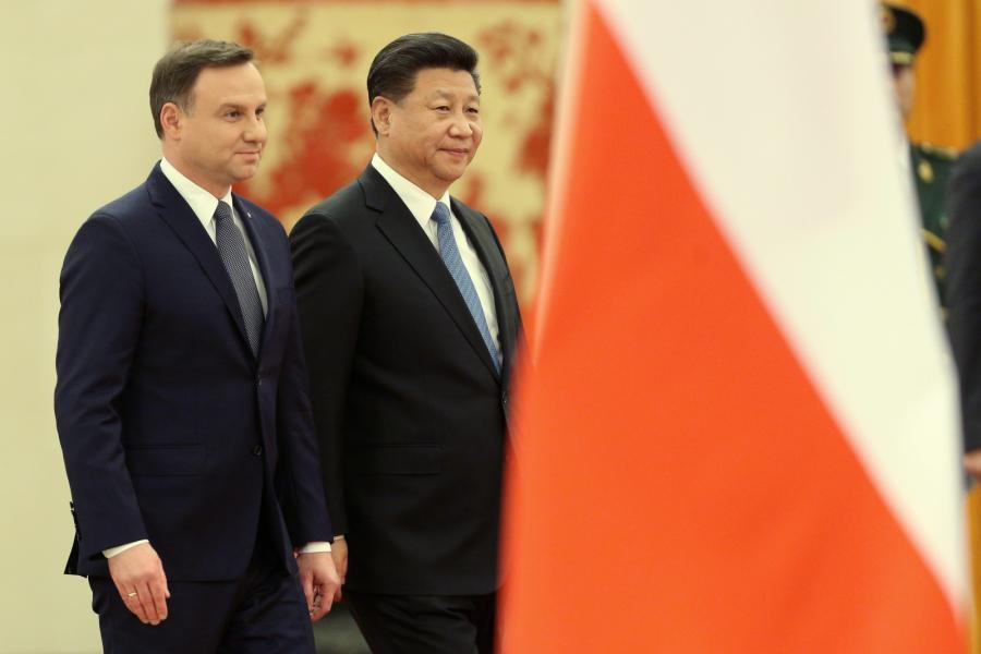 Andrzej Duda i Xi Jinping