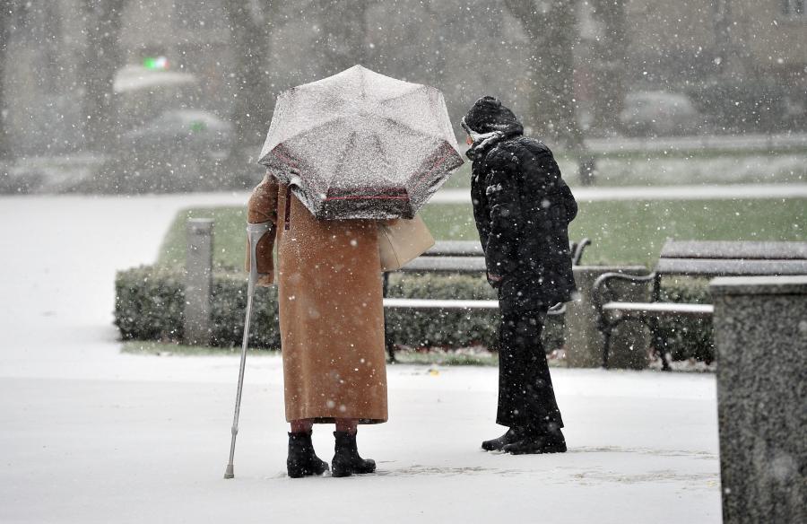 Pierwszy śnieg w Szczecinie