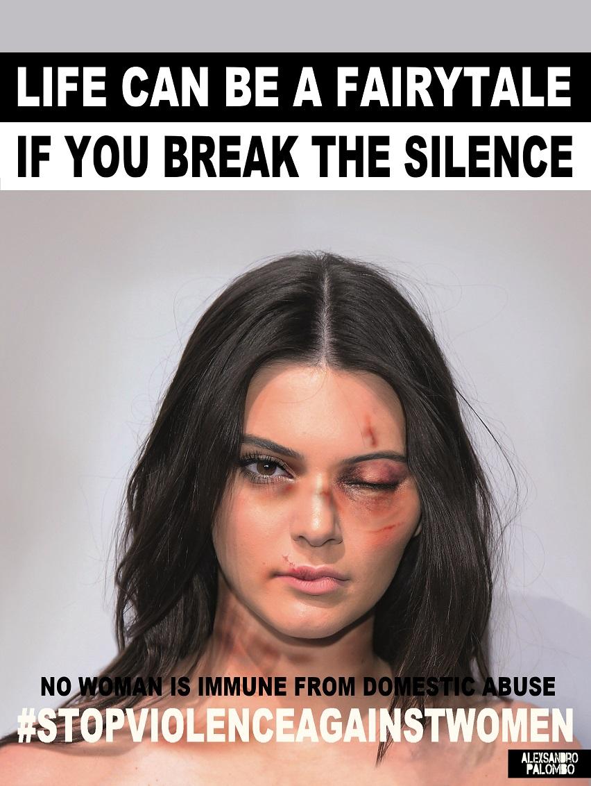Kendall Jenner w kampanii #stopvilenceagainstwomen