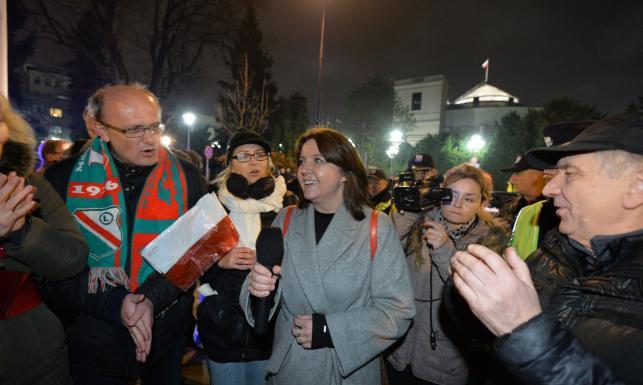 Zandberg, Lichocka, Cymański... Kto jeszcze pojawił się na manifestacjach? ZDJĘCIA