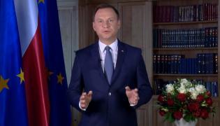 Prezydent Andrzej Duda wygłasza orędzie