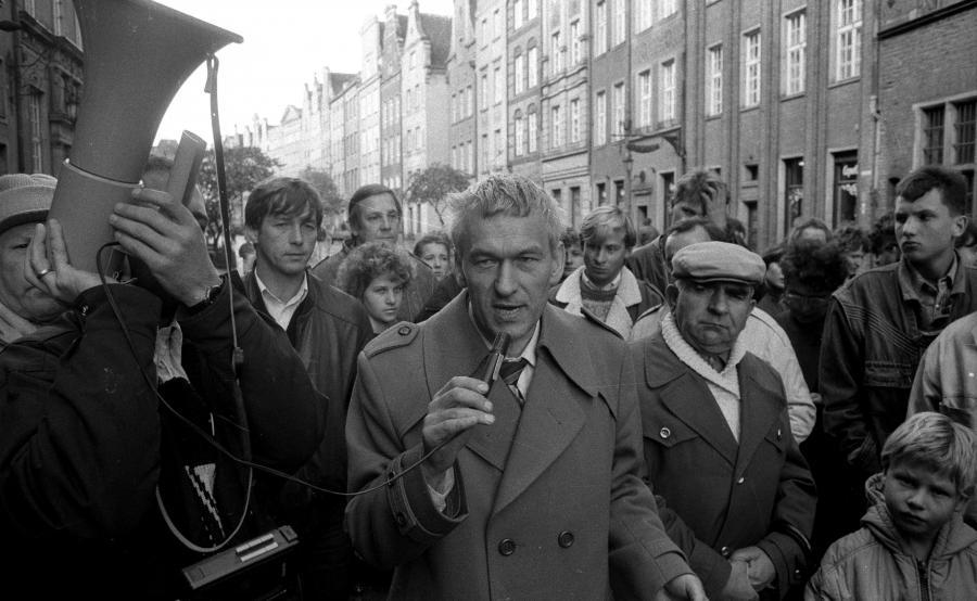 Kornel Morawiecki w 1990 roku, w czasie kampanii przed wyborami prezydenckimi