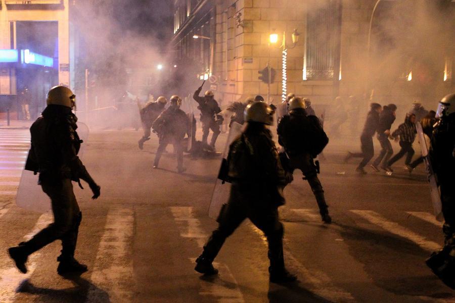 Zamieszki w centrum Aten