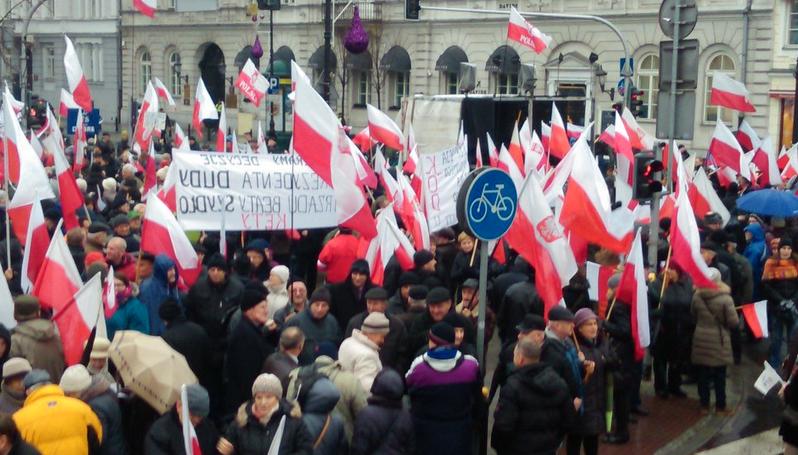 Uczestnicy marszu \