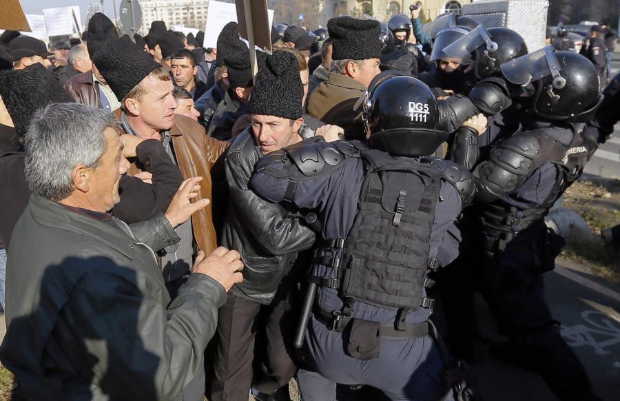Rumuńscy pasterze protestują