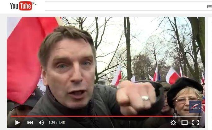 Tomasz Lis na demonstracji KOD