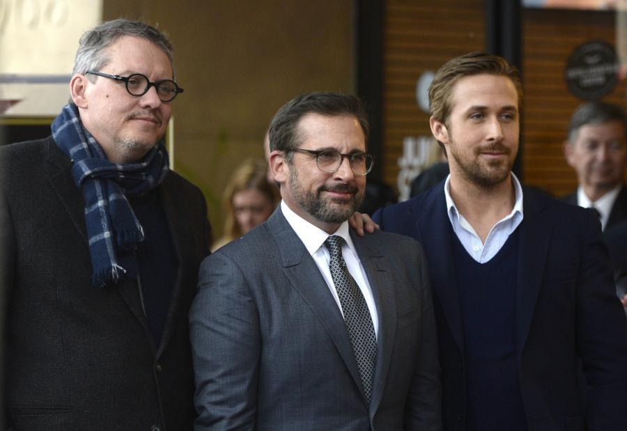 Steve Carell i jego goście: Ryan Gosling oraz reżyser Adam McKay