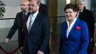 Martin Schulz i Beata Szydło
