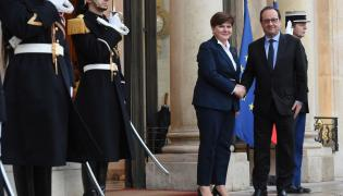 Beata Szydło i Francois Hollande