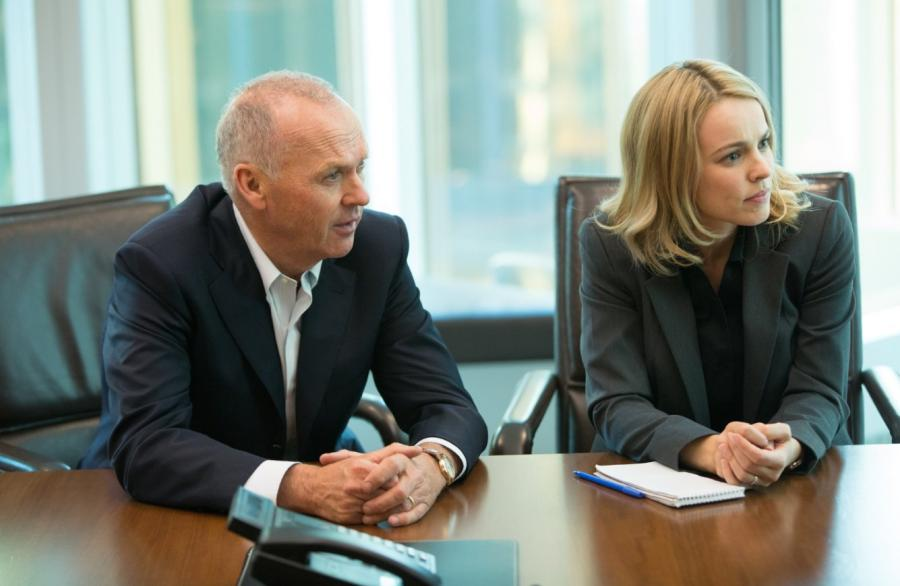 "Michael Keaton i Rachel McAdams w filmie ""Spotlight"""