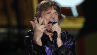 Mick Jagger podczas koncertu w Montevideo
