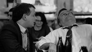 Jarosław Kaczyński i Lech Wałęsa. Zdjęcie z 1990 roku