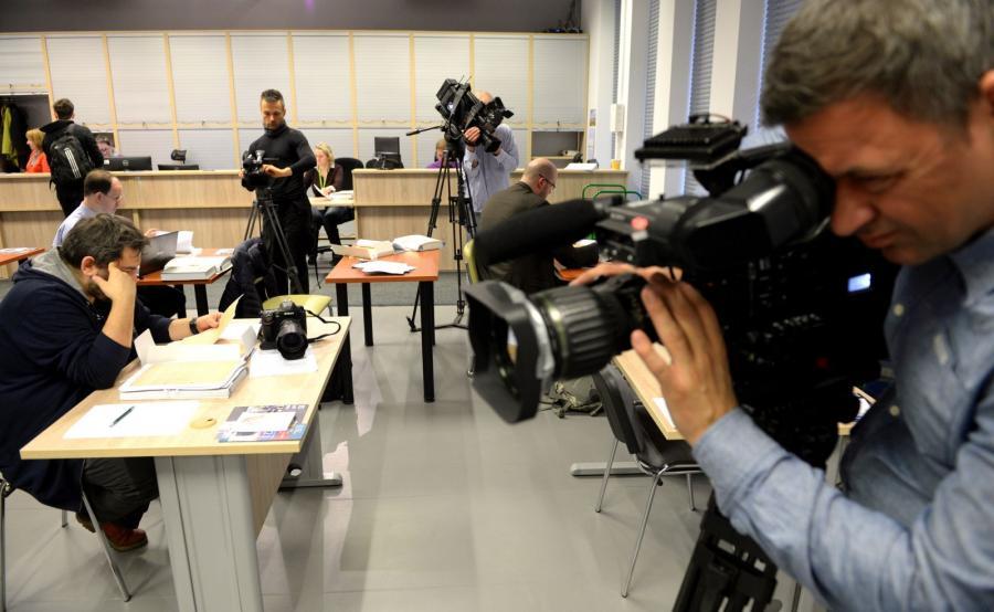 Czytelnia IPN, w której udostępniono dziennikarzom dokumenty z teczki TW \