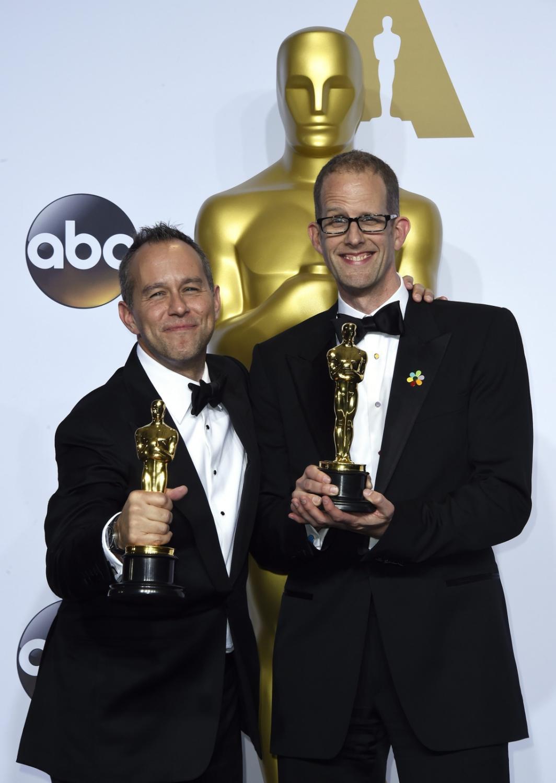 """Oscary 2016 – najlepszy film animowany: """"W głowie się nie mieści"""", Pete Docter i Jonas River"""