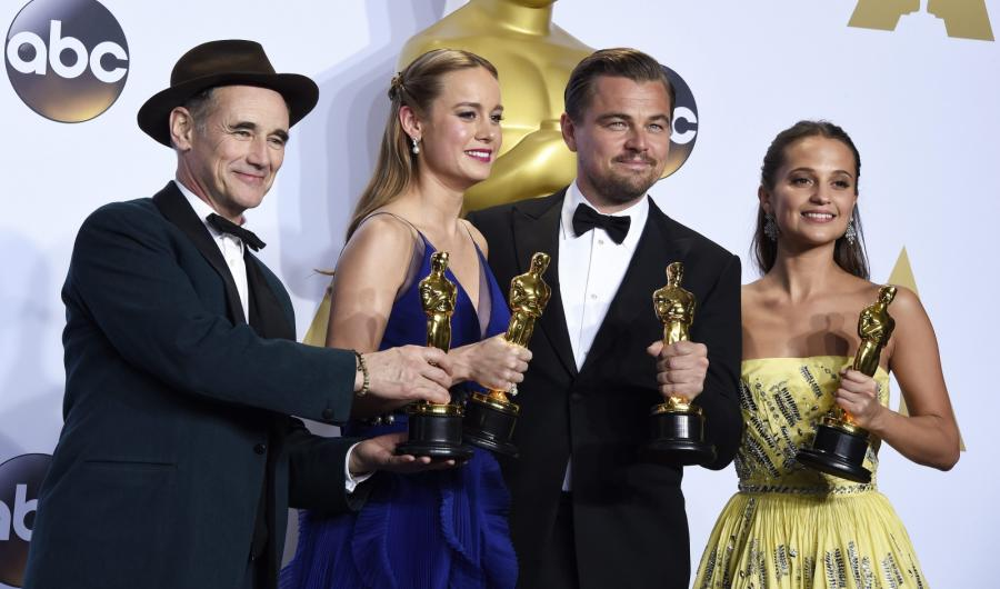 Laureaci Oscarów 2016: Mark Rylance, Brie Larson, Leonardo DiCaprio i Alicia Vikander
