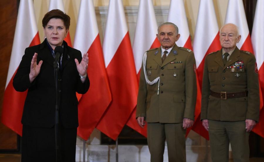 Premier Beata Szydło podczas spotkania z Żołnierzami Wyklętymi