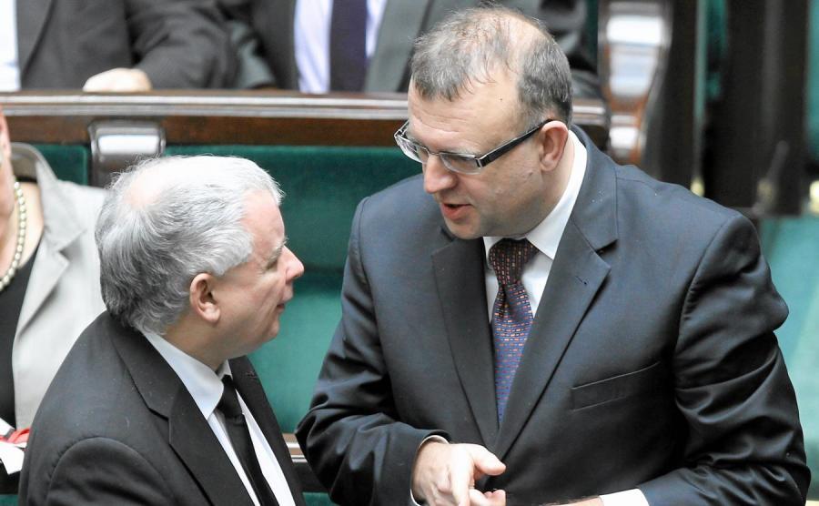 Jarosław Kaczyński i Kazimierz Michał Ujazdowski