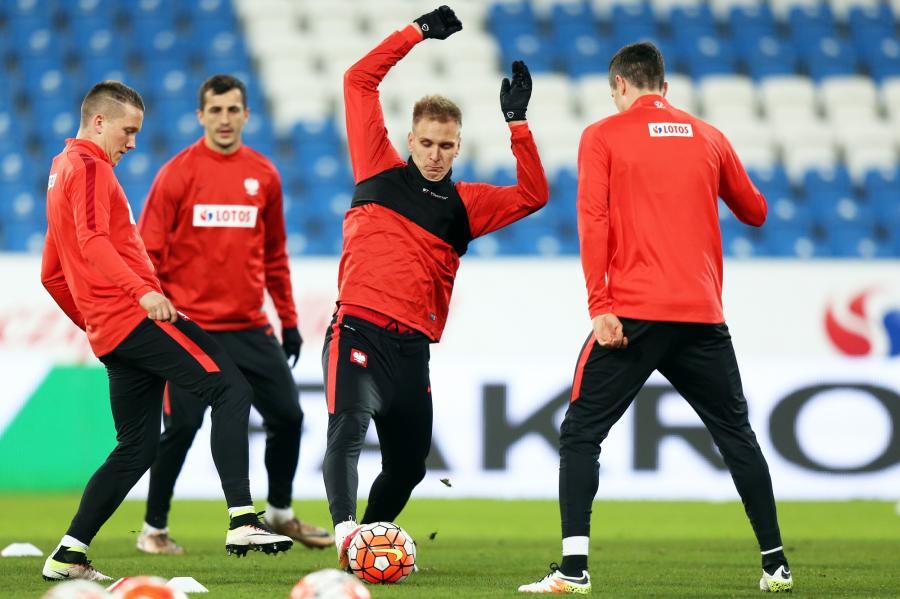 Trening przed meczem Polska-Serbia
