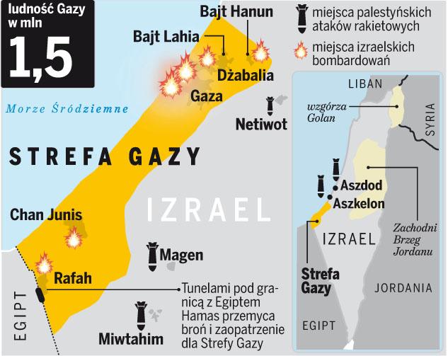 Żołnierze zajmują Strefę Gazy