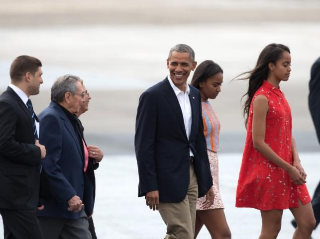 Barack Obama z córkami Natasha i Malią