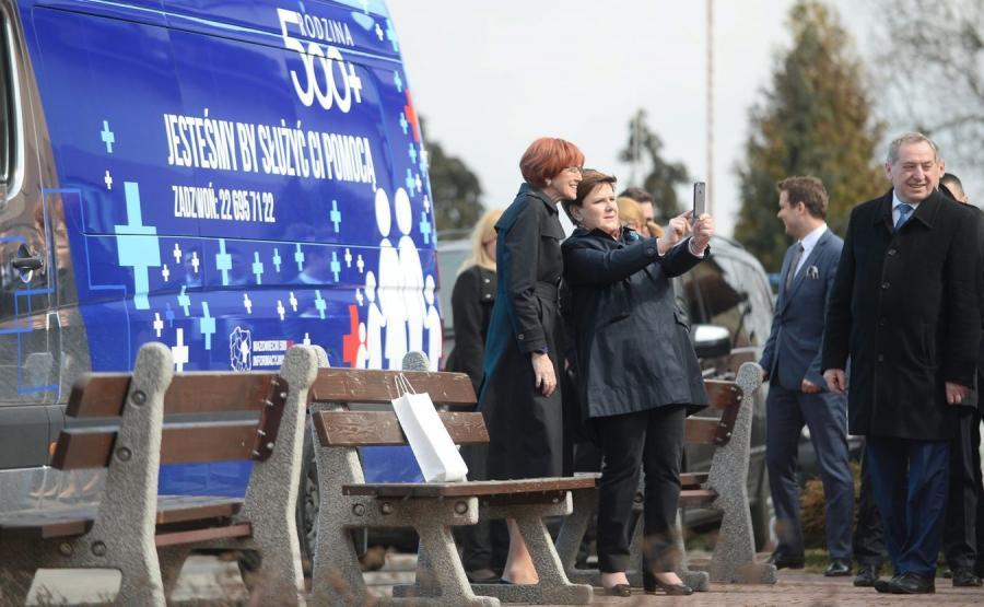Elżbieta Rafalska, Beata Szydło i Henryk Kowalczyk