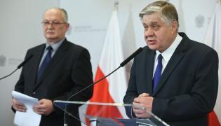 Prezes ANR Waldemar Humięcki i minister rolnictwa Krzysztof Jurgiel