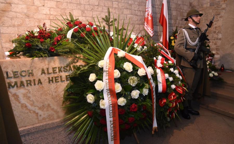 Sarkofag pary prezydenckiej w Krypcie pod Wieżą Srebrnych Dzwonów na Wawelu