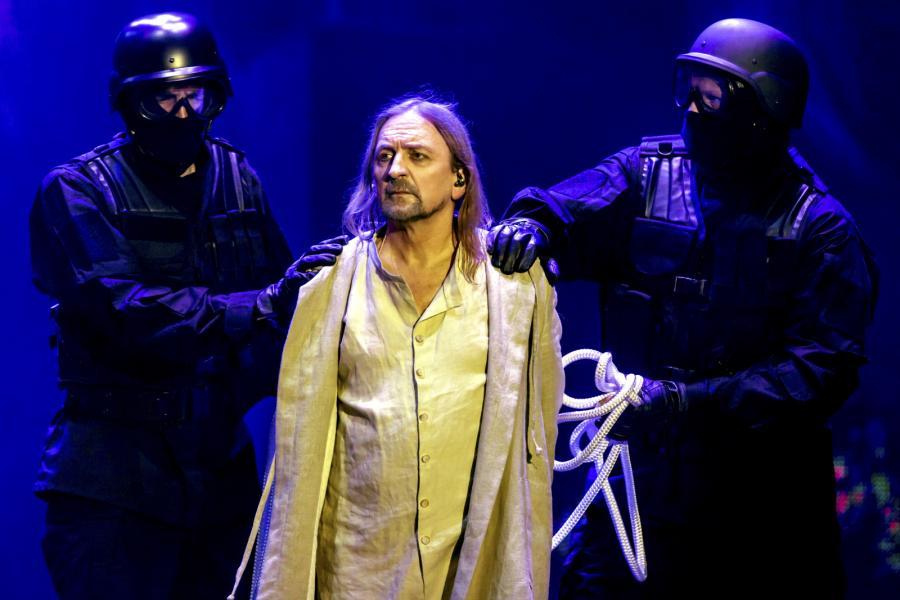"""Marek Piekarczyk w musicalu """"Jesus Christ Superstar"""""""