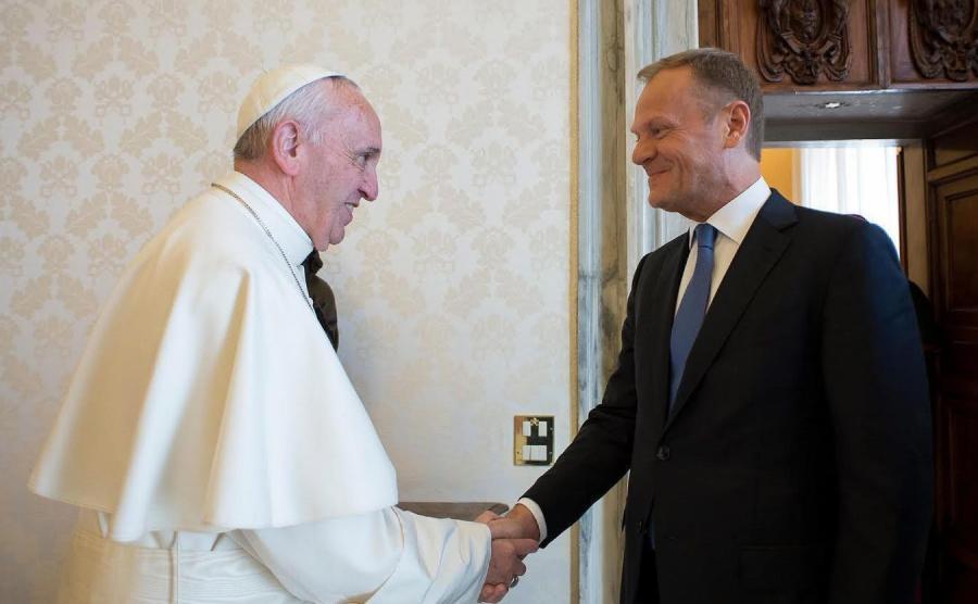 Papież Franciszek i Donald Tusk