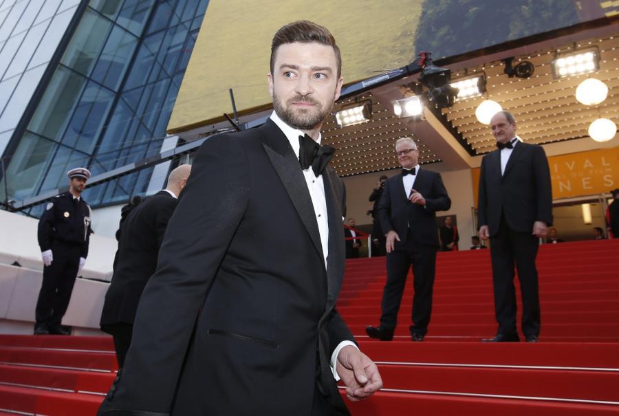 Justin Timberlake na słynnych canneńskich schodach