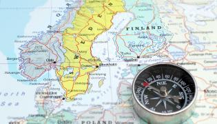 Mapa Skandynawii