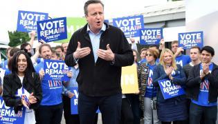 David Cameron w trakcie kampanii przed referendum dotyczącym wyjścia Wielkiej Brytanii z UE