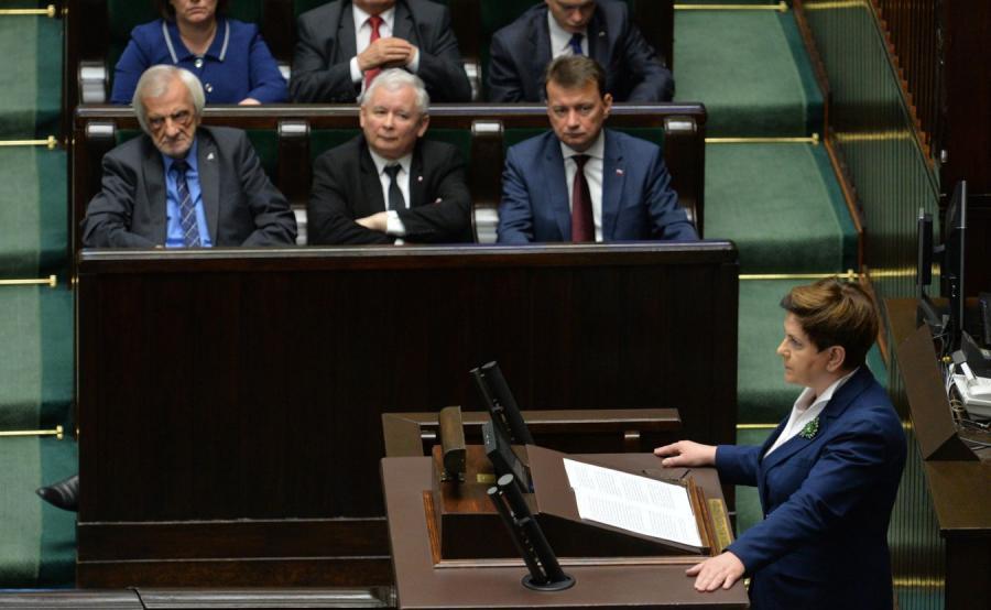 Premier Beata Szydło w Sejmie