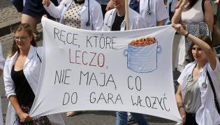 Protest młodych lekarzy