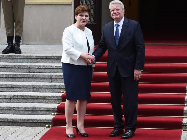 Beata Szydło i Joachim Gauck