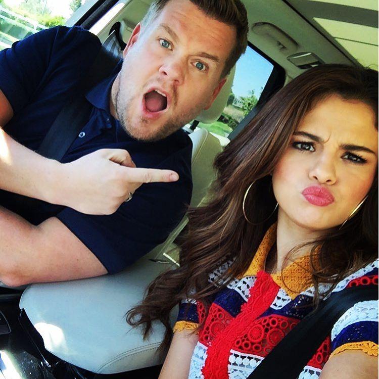 Selena Gomez w samochodzie Jamesa Cordena