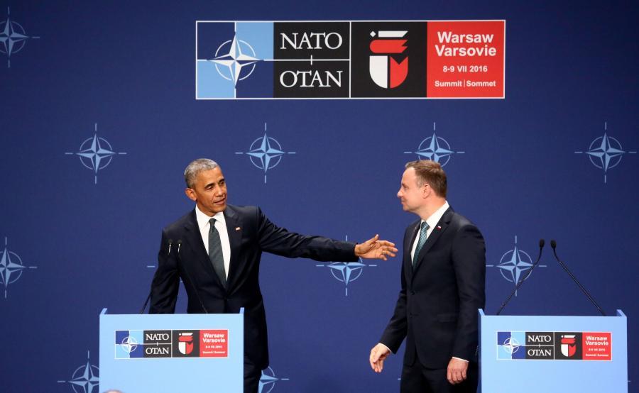 Barack Obama i Andrzej Duda