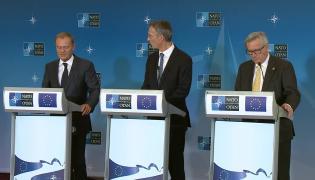 Donald Tusk, Jean-Claude Juncker oraz Jens Stoltenberg
